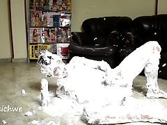 Shaving foam and pee