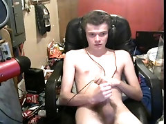 Stroking my meaty Cock. Huge load of cum.