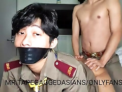asian student slave tape gagged fucked by another student in doggy