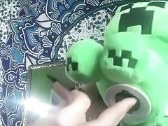 sexy minecraft cosplayer being fingered